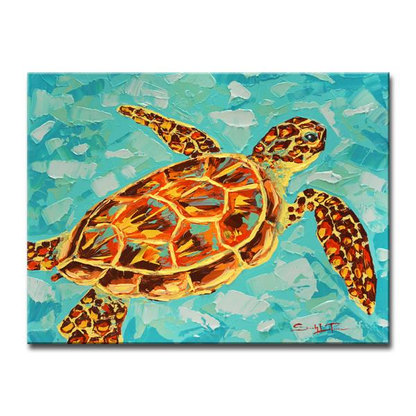 Ready2HangArt Turtle Canvas Wall Décor - 40-in - Blue