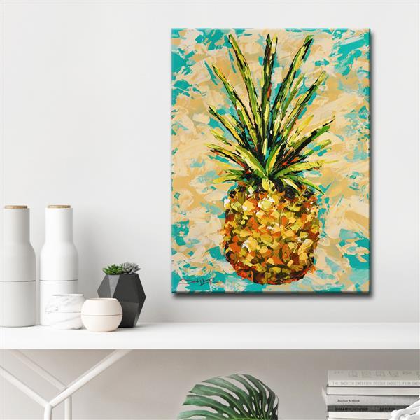 """Décoration murale sur toile, ananas, 30"""" x 40"""""""