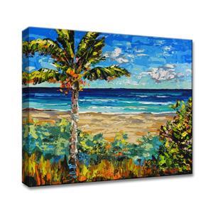 Ready2HangArt Sugar Beach Canvas Wall Décor - 40-in - Blue