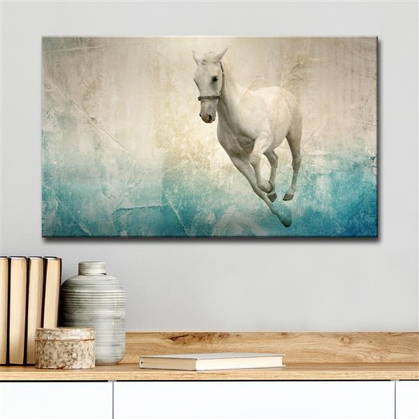 """Equestrian Saddle Ink Wall Décor - 40"""" - Blue"""