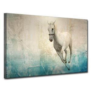 Décoration murale sur toile, cheval blanc, 40