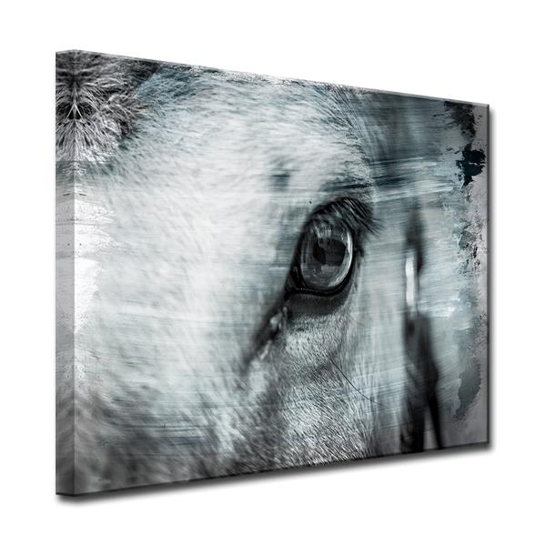 Ready2HangArt Equestrian Saddle Ink Wall Décor - 40-in - Gray