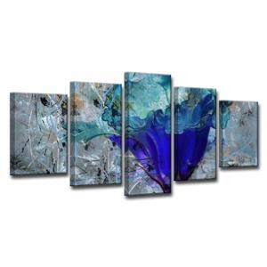 Ready2HangArt Painted Petals Wall Décor Set - 60-in x 30-in - Blue - 5 Pcs