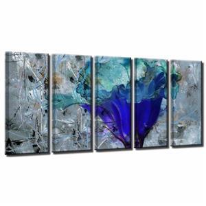 """Ens. d'art mural, pétales, 60"""", bleu, 5 mcx"""