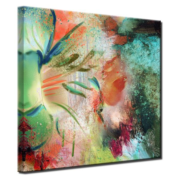 """Painted Petals Canvas Wall Décor - 30"""" x 30"""" - Multicolour"""