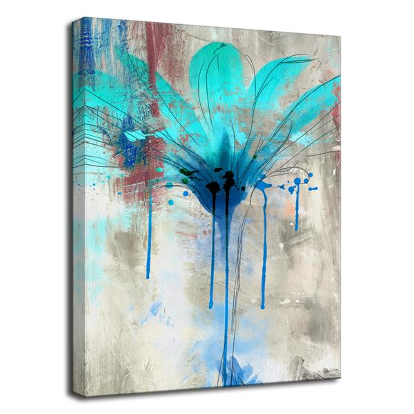 Ready2HangArt Painted Petals Canvas Wall Décor - 30-in x 40-in