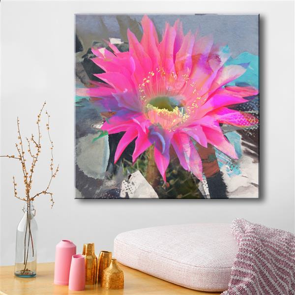 """Toile décorative, pétales, 30"""", rose"""