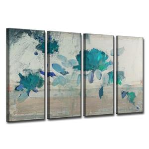 Ready2HangArt Painted Petals Wall Décor Set - 48-in - Blue - 4 Pcs