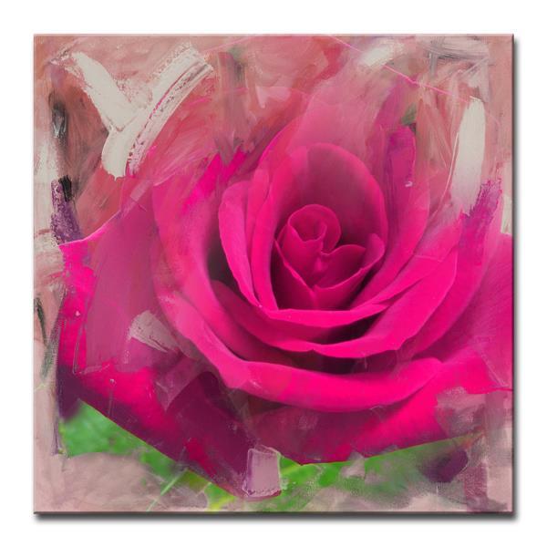 """Décoration murale sur toile, pétales, 30"""", rose"""