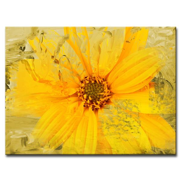 Ready2HangArt Painted Petals Canvas Wall Décor - 40-in - Yellow