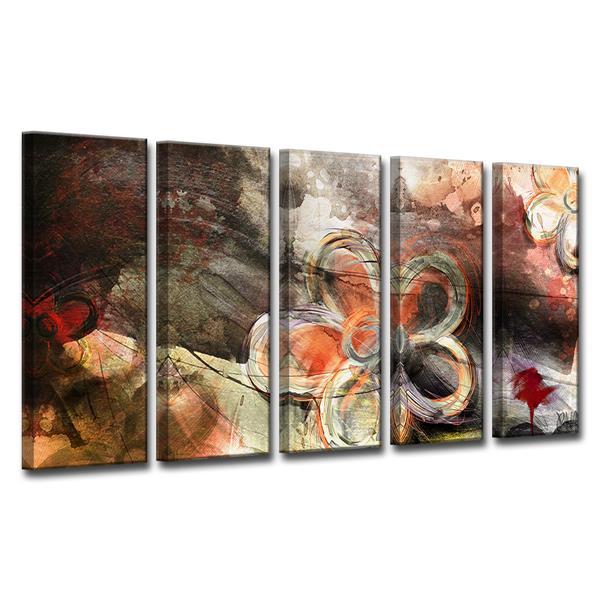 """Décoration murale sur toile, pétales XV, 60"""", 5 mcx"""