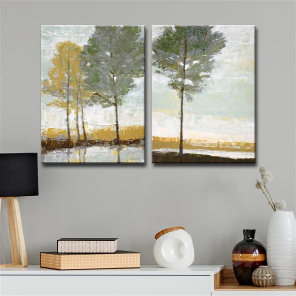 "Lakeside View Wall Décor Set - 40"" - Gray - 2 Pcs"