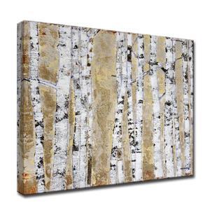 Décoration murale en toile, bouleau d'octobre, 40