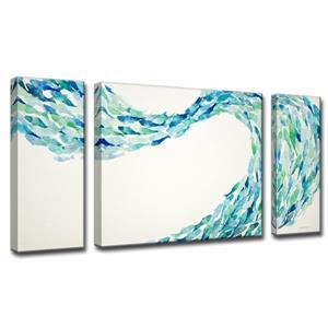 Ens. d'art mural sur toile «Flow», 60