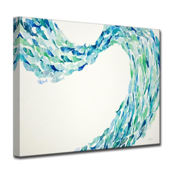 "Flow Canvas Wall Décor - 40"" - Blue"