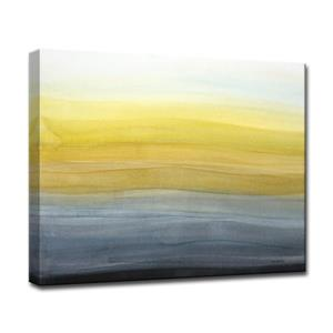 """Décoration murale sur toile, soirée étincelante, 40"""", jaune"""