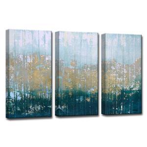"""Ens. d'art mural sur toile «Harbour Point», 36"""", bleu, 3 mcx"""