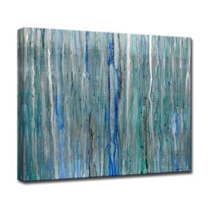 """Décoration murale sur toile, pluie arctique, 40"""", bleu"""