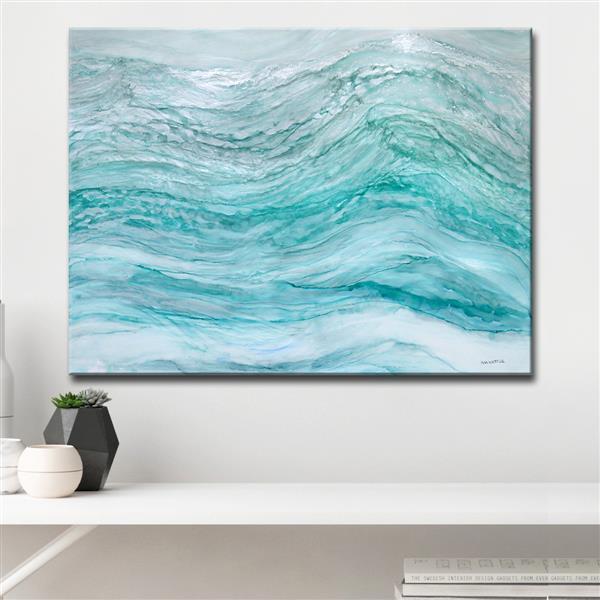 """Décoration murale sur toile, Neptune, 40"""", bleu"""