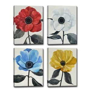 Graceful Poppy Wall Décor Set - 64