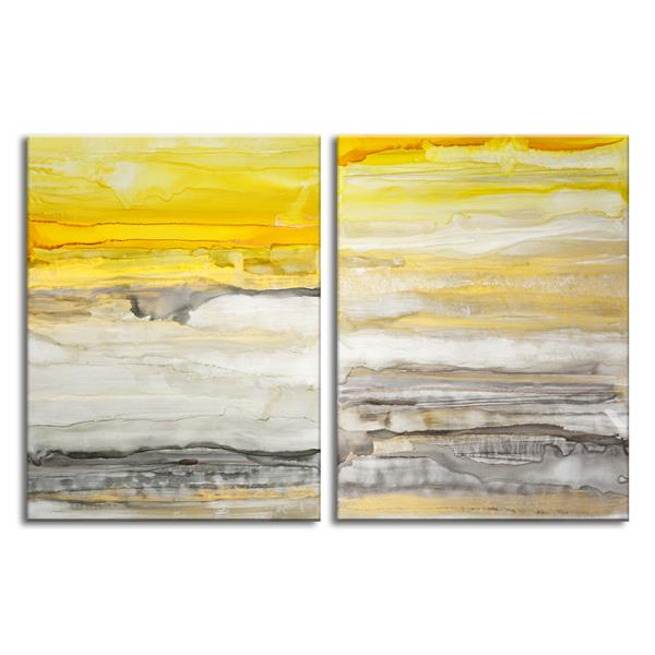 Ready2HangArt New Sunset Wall Décor Set - 60-in - Yellow - 2 Pcs