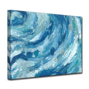 """Décoration murale sur toile, océan , 40"""", bleu"""