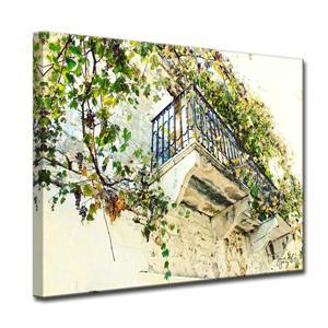 """Décoration murale en toile, vigne, 40"""", vert"""