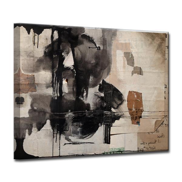 """Décoration murale sur toile, encre, 40"""", brun"""