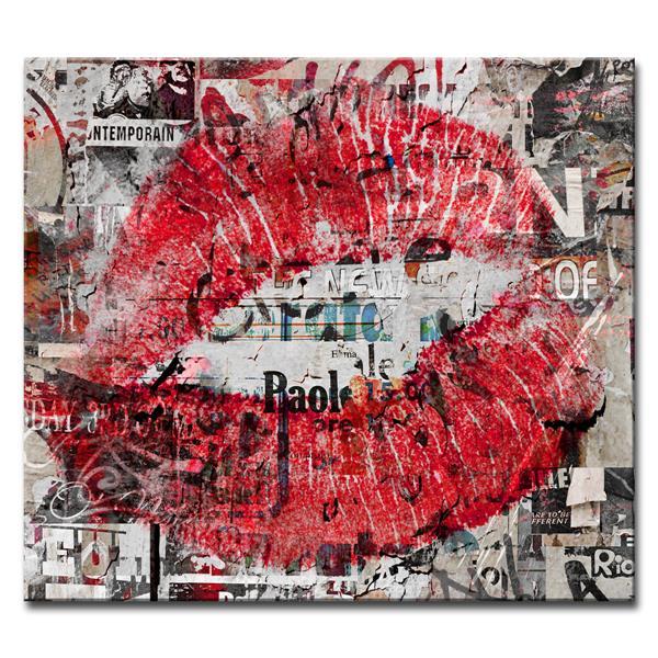 """Décoration murale sur toile, mode urbaine, 30"""", rouge"""