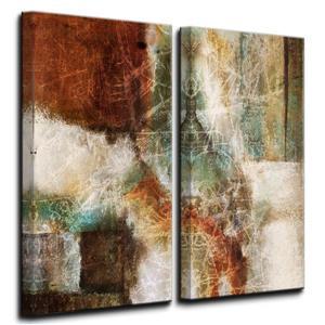 """Ens. d'art mural sur toile, abstrait, 40"""", 2 mcx"""