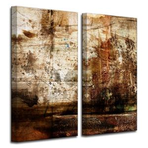 Abstract Canvas Wall Décor Set - 40