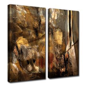 """Ens. d'art mural sur toile, ETABX, 40"""", brun, 2 mcx"""