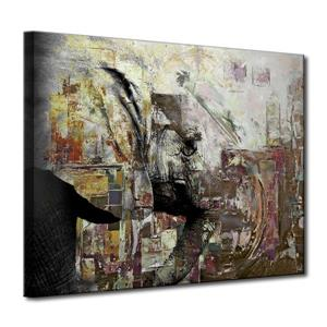 Saddle Ink Elephant Canvas Wall Décor - 40