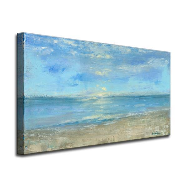 """Décoration murale sur toile, vue matinale, 40"""", bleu"""