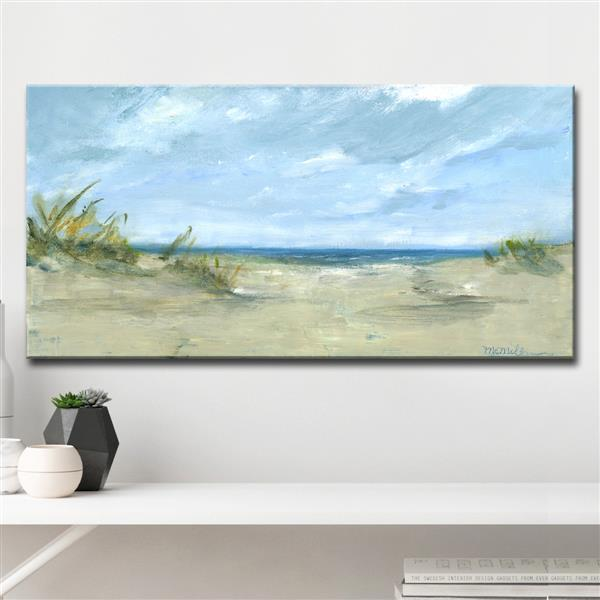 "Sandy Shores Canvas Wall Décor - 40"" - Blue"