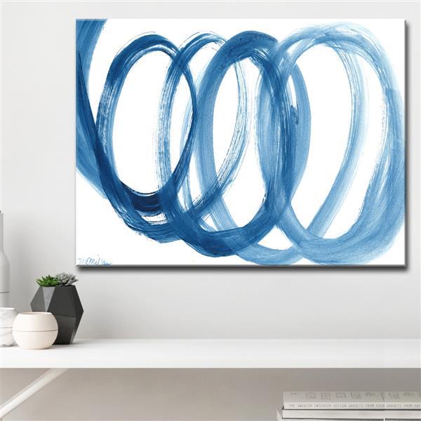 """Loopy Blue Canvas Wall Décor - 40"""" - Blue"""