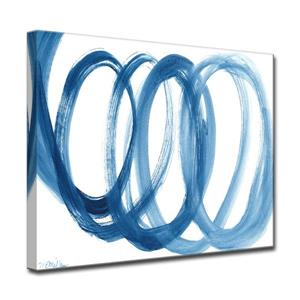 Loopy Blue Canvas Wall Décor - 40