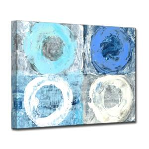 Circular Squares Canvas Wall Décor - 40