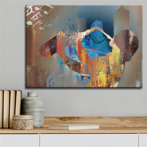 """Décoration murale, les couleurs du Jazz, 40"""" x 30"""""""