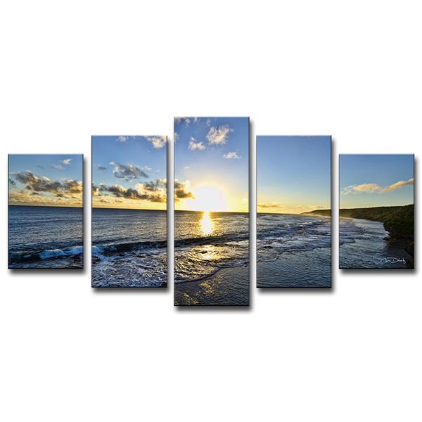 """Day Break Canvas Wall Décor Set - 60"""" - Blue - 5 Pcs"""