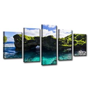 Seaglass Canvas Wall Décor Set - 60