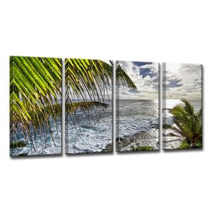 Palms View Canvas Wall Décor Set - 48