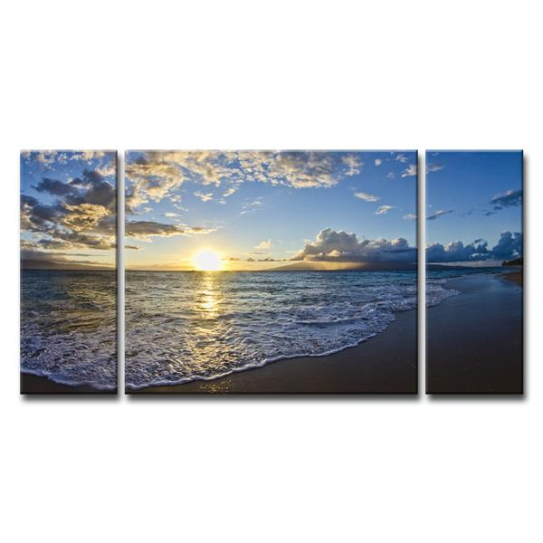 "Upon the Shoreline Wall Décor Set - 60"" - Blue - 3 Pcs"