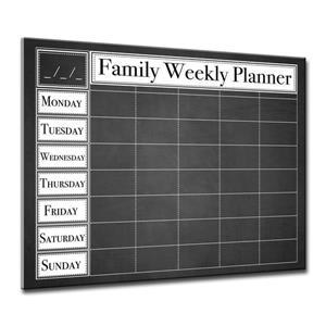 Dry Erase Family Weekly Calendar - ArtPlexi - 30
