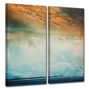Abstract Landscape Wall Décor Set - 40