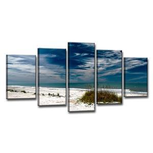 Ready2HangArt Silent Beach Wall Décor Set - 60-in - Blue - 5 Pcs