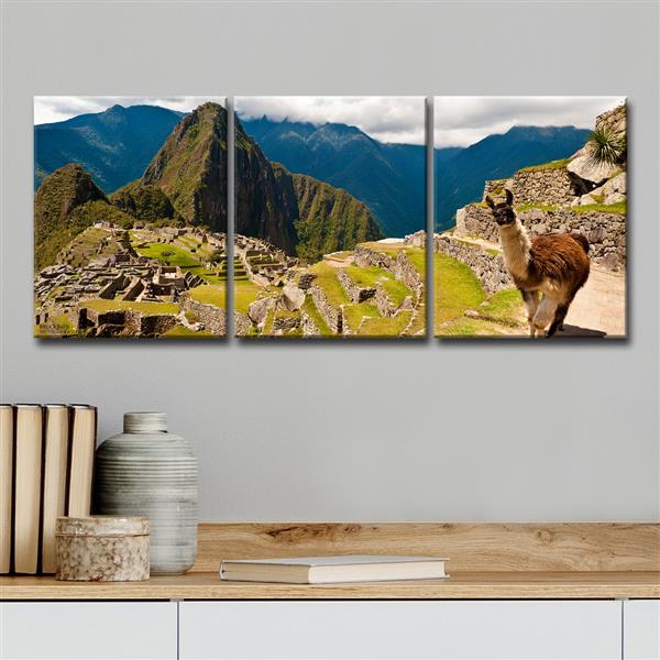 """Ensemble de toiles, Machu Picchu, 48"""", 3 mcx"""