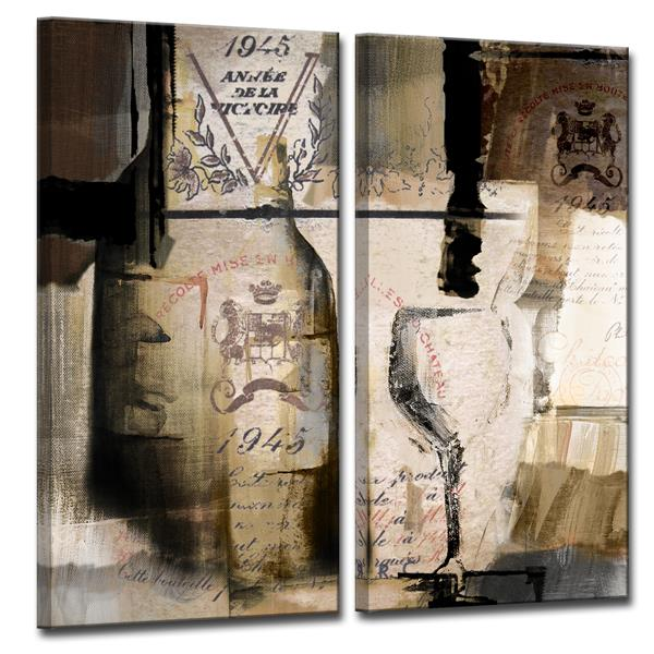 Ready2HangArt Fine Reserve Canvas Wall Décor Set - 40-in - Brown - 2 Pcs