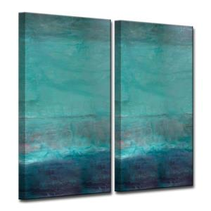 "Ensemble de toiles «Abstract Spa», 40"", bleu, 2 mcx"