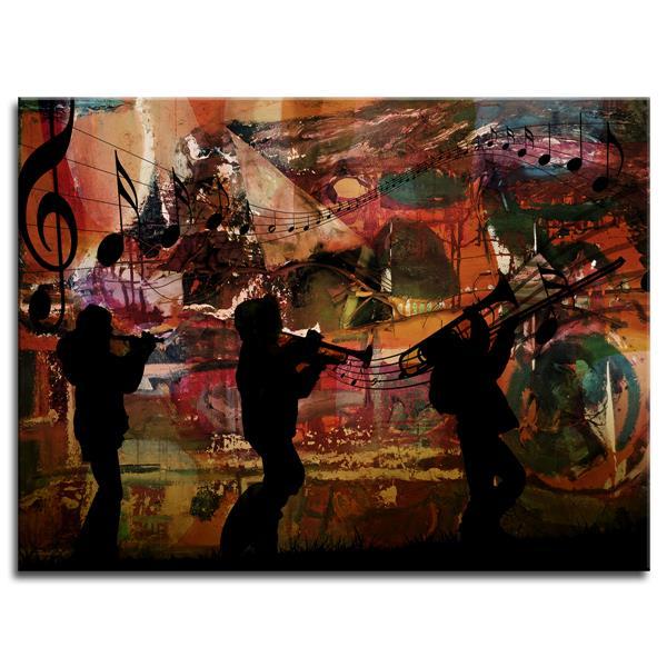 "Décor mural en toile, Jazz, 40"" x 30"""